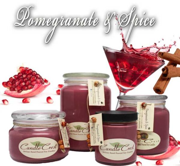 Pomegranate & Spice Soy Candles by Candle Crest