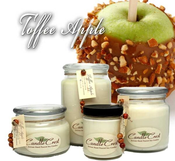 Toffee Apple Scented Candles by Candle Crest