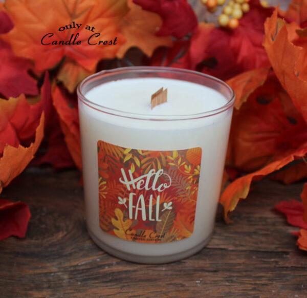 Hello Fall - Wooden Wick Soy Candle - Limited Edition - by Candle Crest