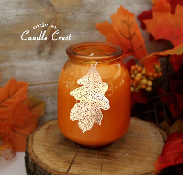 Copper Leaf Jar Candle by Candle Crest