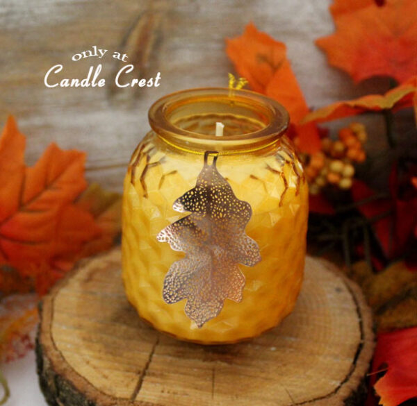 Amber Leaf Jar Fall Candle by Candle Crest