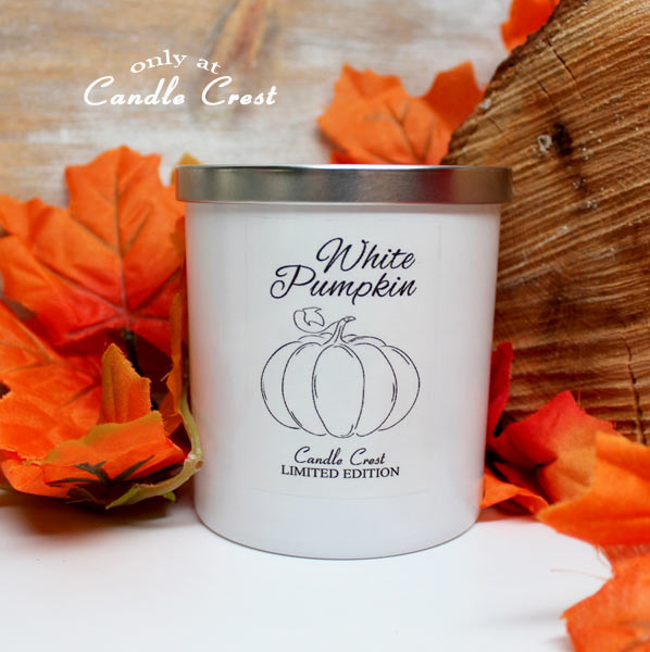 White Pumpkin & Amber Fall Candle by Candle Crest